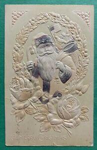 1919 Santa Claus Postcard - With US Flag