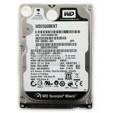 "Western Digital Scorpio Black 2.5"" 250 GB disco rigido interno 7200rpm"