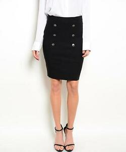 Black double-breasted skirt by Have & Have