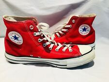 Vintage 1990's Red Converse / Men's Size 12 Shoes All Star Chuck Taylor High Top