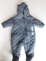 NWT Gap Baby Boy Quilted 1pc Chambray Bear Outerwear NB 0-3M 3-6M New MSRP$40