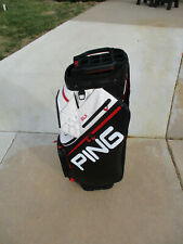 Ping Dlx Cart Bag Black/Scarlett/White Excellent Condition!