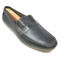 Men's Born Andes Driving Moccasins Loafers Shoes Size 9.5 M Black Leather AC10