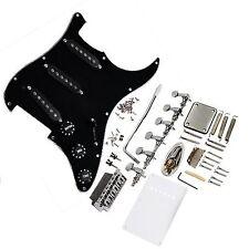 1set guitar Pickguard Black Tremolo Knobs Bridge for Complete for Stratocaster