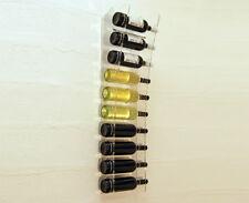 Slato Portabottiglie da vino a parete in plexiglass Perla per 10 bottiglie