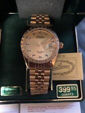 New Vintage Dufonte By Lucien Piccard Genuine Diamond Watch