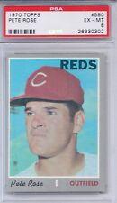 1970 Topps # 580 Pete Rose Reds EX MT PSA 6