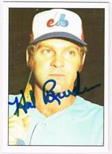 Original Autograph of Hal Breeden of the Montreal Expos on a 1975 SSPC Card