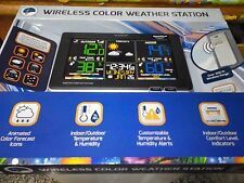 NEW La Crosse C87214 Black Wireless Weather Station Indoor/Outdoor Temp/Humidity