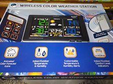NEW La Crosse C87214 Black Wireless Weather Station Indoor/Outdoor Temp/Humidity