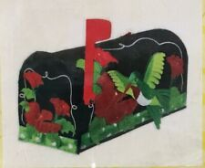 New Evergreen Hummingbird Mailbox Cover 3D Applique Felt Magnetic Black Green Re