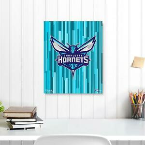 """Charlotte Hornets 16"""" x 20"""" Logo Gallery Wrapped Embellished Giclee - Fanatics"""
