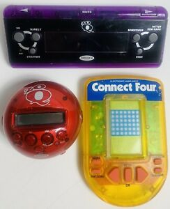 Lot Of 3 Radica Milton Bradley Handheld Games - Tested And Working Great!