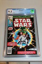 CGC 9.2 Star Wars #1 1st Print Newstand Variant 1st App Luke Leia Key Book MINT