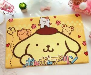 Cute Yellow Pompompurin Bedroom Doormat Floor Mat Rug Carpet Home Room Kids Gift
