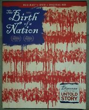 The Birth of a Nation (Blu-ray Disc, 2017, 2-Disc) New Free Shipping Slip Cover