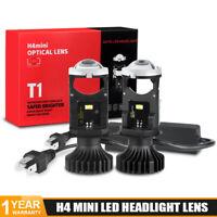 2X H4 9003 Mini Bi-LED Projector Headlight Lens Headlamp Hi-Lo Retrofit LHD RHD