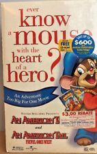 NIP VHS Fievel An American Tail: Special Limited Edition 2-PACK, FACTORY SEALED