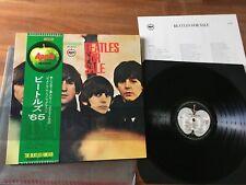 G52 THE BEATLES For Sale JAPAN LP OBI AP-8442 lyrics 2000 yen (2200 Y gold tag)