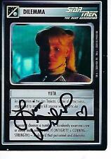 LISA WILCOX SIGNED FOIL Yuta Reflections 2000 Decipher RARE Star Trek CCG