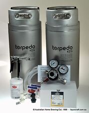TORPEDO Twin Keg Set Pluto Gun CO2 Regulator homebrew kegging starter kit beer