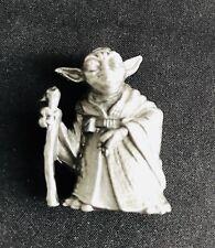 Solid Pewter Yoda Star Wars Jedi Master Silver Figurine Statue C