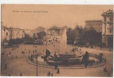 Roma La Stazione Vista dall Esedra Vintage Postcard Italy 442a