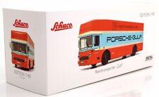 Porsche Mercedes-Benz Gulf Renntransporter LKW Truck O317 1:43 Schuco