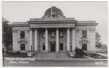 RENO NEVADA Washoe Court House RPPC RP Real Photo Postcard ZAN STARK Lake Tahoe