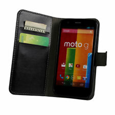 Leather Mobile Phone Wallet Cases for Motorola Moto G