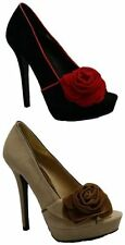 Stiletto Party Peep Toes Suede Upper Heels for Women