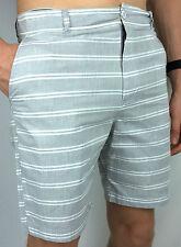 CLOCKWORK. A Billabong Co. Men's GREY & White Walk Shorts. 100% Cotton. 30 & 32.