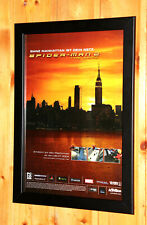 2004 Spider-Man 2 Rare Small Poster /Old Ad Page Framed PS2 Gamecube Nintendo DS