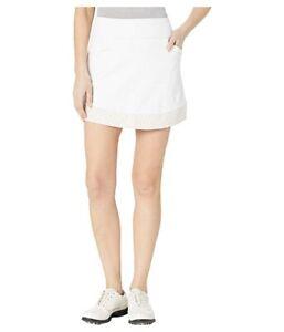 adidas Golf Ultimate365 Printed Knit (FJ4890) Skort - Women's Size S - White NEW