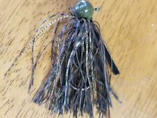 5 pack of 3/4oz Grn. Pumpkin Football jigs with 5/0 black nickel Eagle Claw hook