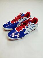 Under Armour Football Cleats Mens 12.5 USA Red White Blue Olympic 1270825-400