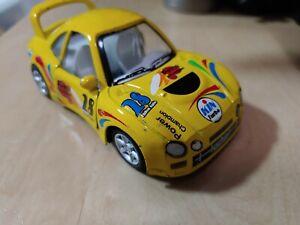 kinsfun Toyota Celica GT-4 Diecast Toy Car st205 1994  yellow big spoiler 1:32