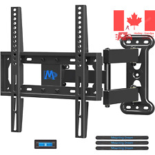 Full Motion TV Wall Mount Corner Bracket with Perfect Center Design for most ...