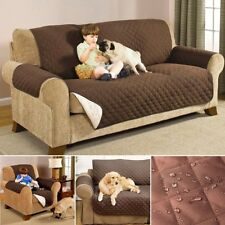 Reversible Quilted Waterproof 1 2 3 Sofa Cover Furniture Pet Dog Protector Throw