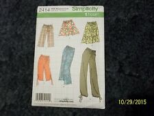 Simplicity #2414 Ladies Pants and Skirt Patterns. New Sz 8,10,12,14,16.. New.