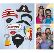 Pirate Themed Birthday Party Supplies Photo Props Fun Game Cutouts 10 Assorted