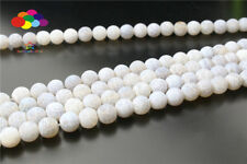 Newest Diy 6/8/10 mm Natural WHITE Weathered Stone Round Beads fit Yoga bracelet