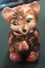 Vintage California Pottery 1950's Ceramic Brown Bear Cookie Jar