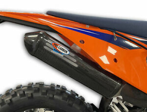 PRO CARBON EXHAUST SILENCER PROTECTOR GUARD KTM EXC250 EXC300 2020 -  2022