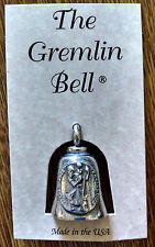 St. Christopher Motorcycle Guardian Angel Harley Good Luck Gremlin Bell Made USA