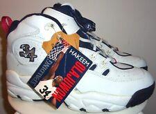 NEW VINTAGE 90's HAKEEM OLAJUWON SPALDING FINSH STRONG  BASKETBALL SHOES 9 RARE!