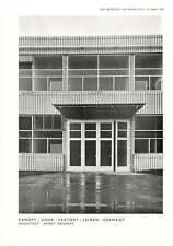 1956 Door Canopy Of Factory In Leimen Germany Ernst Neufert