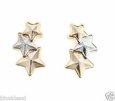 ac74be71f Kids Girls 9ct Gold Andralok SMALL TINY Triple 5 Star Stud Earrings B'Day  GIFT