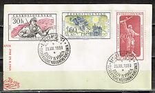 Czech WW2 1944 anti-Nazi Slovak National Uprising stamps 1959 Postmark
