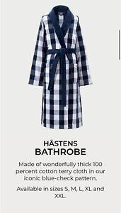 Hastens Bathrobe Velour Size S